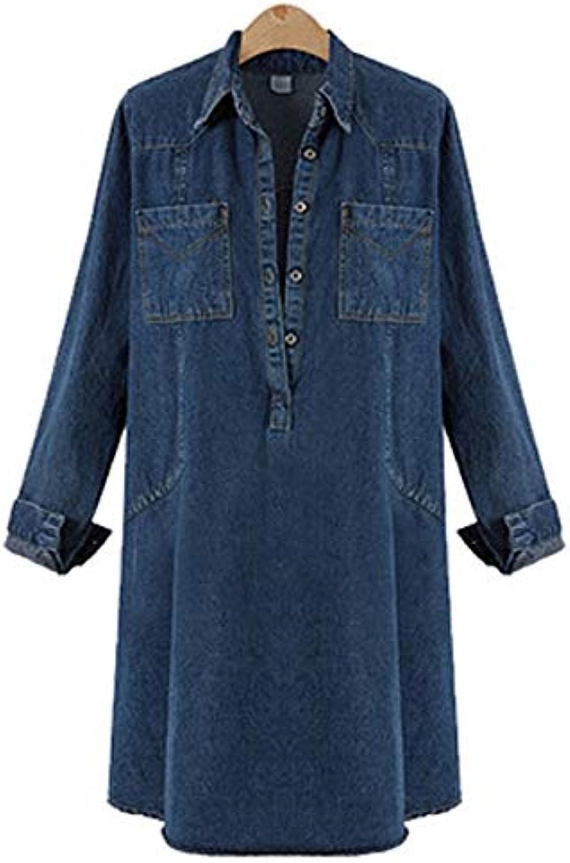 ... Oudan Abito Casual Speciale da Donna Gonna di Jeans Larghi alla Moda  (Coloreee Jeans Blu 2523334fc5b