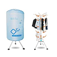 Concise Home Portable Electric Clothes Dryer 1000W Large Capacity 10kg Double layer Energy-Efficient Indoor Wet Laundry Warm Air Drying Wardrobe