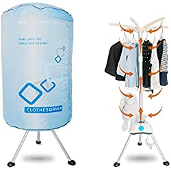 Concise Home Portable électrique Séchoir 1000W Grande capacité 10kg Double Couche Ronde séchoir