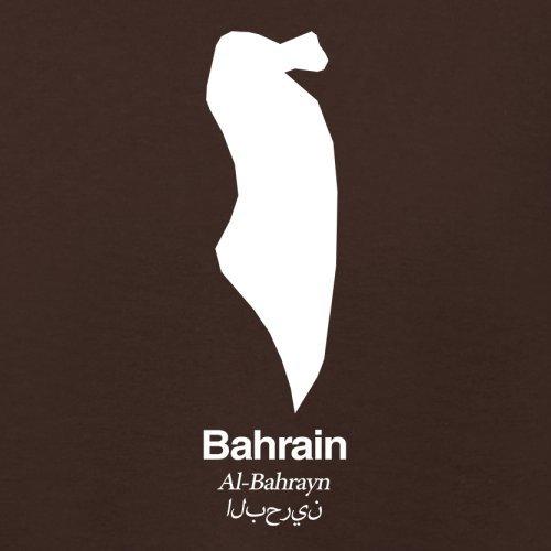 Bahrain / Königreich Bahrain Silhouette - Damen T-Shirt - 14 Farben Dunkles Schokobraun