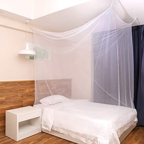 Sekey Mosquitera para cama simple con Kit de colocación, Cortina, Protección repelente contra Insectos, 220 x 100 x 200 cm, malla antinsectos con rápida y fácil instalación [Blanco]