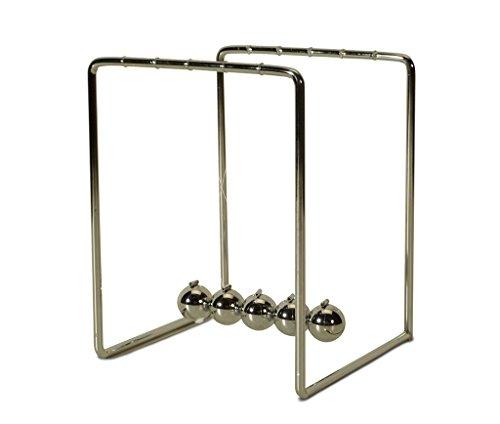 Tick Tock sfera 11x 11cm altezza gioco 14cm-pendolo Newtons Cradle Balance sfera resistente ai colpi pendolo-Decorazione stress Killer-Complemento d' arredo di Living-by-Design