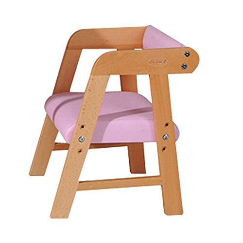 Kinder Rückenlehnenhocker, Babystuhl, Computer-Schreibtisch Und Stuhl, Esstisch Zu Hause Massiv Holzstuhl,Pink