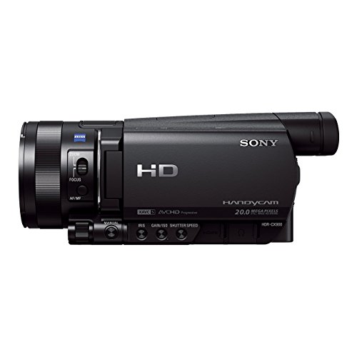 Sony HDR-CX900 High Definition Flash Camcorder (2,5 cm (1 Zoll) Exmor R Sensor, 12 fach optischer Zoom, eingebauter ND-Filter, WiFi, NFC Funktion) schwarz (Sony Camera Video Handycam)