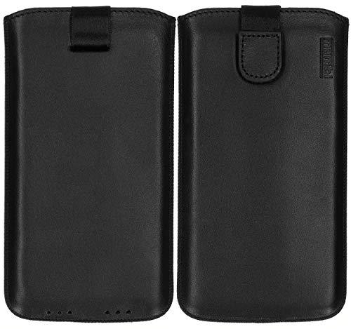 mumbi ECHT Ledertasche für iPhone XR Tasche Leder Etui (Lasche mit Rückzugfunktion Ausziehhilfe)