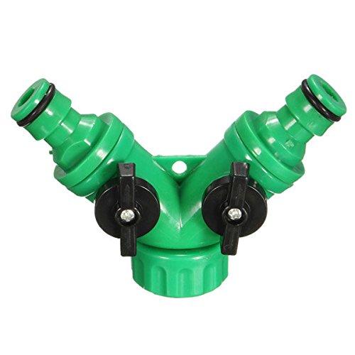 Calli 1/2 Zoll Gartenbewässerungs 2 Wege Teiler Verbindungswasserschlauch Schnell Adapter -