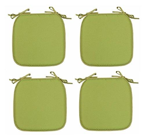 TopStyleFashion4u Luxus Gartenstuhl-Schaumstoffkissen zum Anbinden von Sitzkissen, grün, 4 Stück
