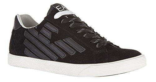 Emporio Armani EA7 scarpe sneakers donna camoscio nuove pride nero Black