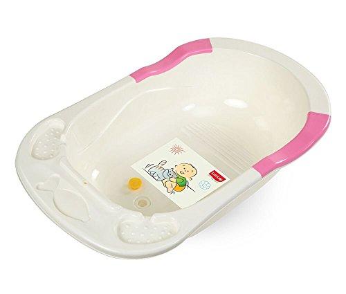 Luvlap Baby Bathtub with Anti-Slip (Pink)