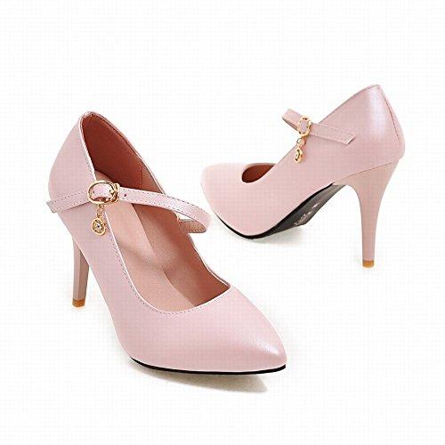 Mee Shoes Damen Stiletto Schnalle Geschlossen Pumps Pink