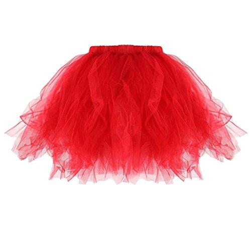 dchen Kinder Tutu Unterkleid Rock Abschlussball Abend Gelegenheit Zubehör - Rot, Erwachsene (Lustige Halloween-spiele Online)