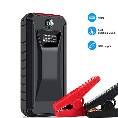 18000Mah Auto Starter 12V Auto Batteriebooster Nutzt Fortschrittliche QDSP-Technologie (Bis Zu 8.0L Gas, 6,5L Dieselmotor) Tragbare Mobile Leistung USB3.0-Ladegerät Und LED-Not-Taschenlampe 150 W Mobile Power Inverter