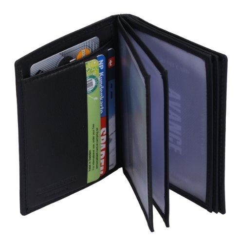 Ausweishülle AVANCO in Echt-Leder, schwarz, 8,5x10,5cm