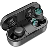 SYOSIN Bluetooth Kopfhörer 5.0 in Ear True Wireless Sport Kopfhörer mit Integriertem Mikrofon, CVC 8.0 Noise Cancelling Mini Kabellos Ohrhörer IPX6 mit Touch Steuerung und 25 Std. Spielzeit