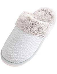 Suncaya Donna Uomo Coppia Pantofole Calde Interne Casa Autunno Inverno  Scarpe da Casa 07e80ac5441