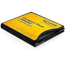 DeLOCK 61796 Carte et Adaptateur d'interfaces - Cartes et adaptateurs d'interfaces (CompactFlash, Noir, 36,4 mm, 42,8 mm, 5 mm, avec Fil)