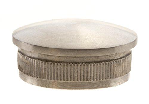 Edelstahl Endkappe 42,4 / 2 mm gewölbt Rohrverschluss Stopfen aus V2A Rohrstopfen Deckel Bayram