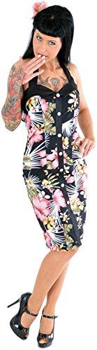Küstenluder Damen Kleid Cariba Tiki Bleistiftkleid Schwarz XL