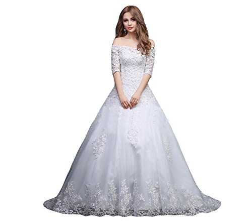 Ikerenwedding - Robe - Taille empire - Femme Small Blanc