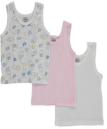 Bambini Girls Printed Tank Top Variety 3 Pack Large Bambini-tank-top