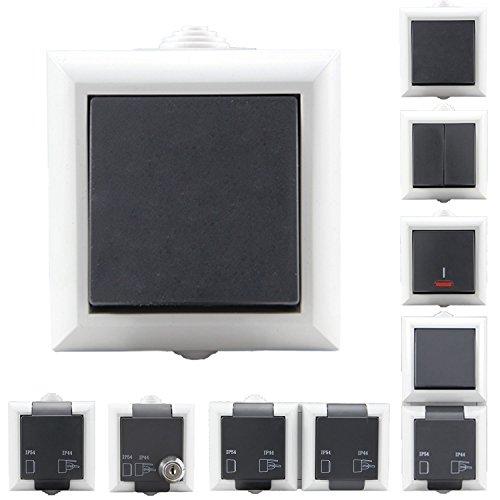 Aufputzsteckdose Schalterserie Steckdosen Aufputz Schalter wählbar Doppelt