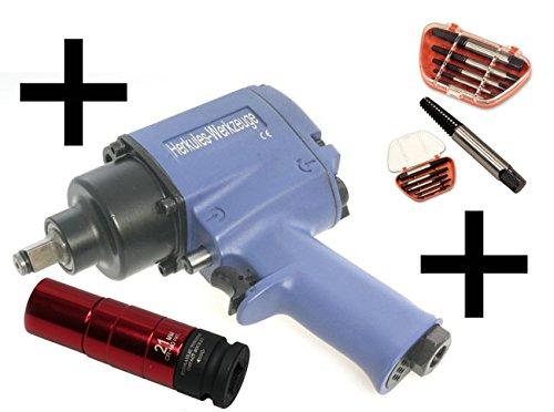 Clé à choc 1/ 2″ 720 Nm avec 10 douilles + Douille 21 mm Torsion + 5 extracteurspas cher