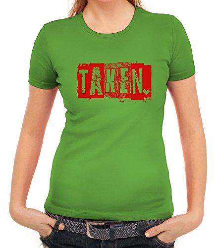 Valentinstag Damen T-Shirt mit Taken. Motiv von ShirtStreet Apfelgrün