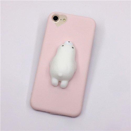Phone Case & Hülle Für iPhone 6 & 6s 3D Bär Muster Squeeze Relief TPU Squishy schützende rückseitige Abdeckung Fall ( Size : Ip6g8901f )