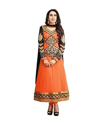 Karishma Kapoor Orange Anarkali Suit