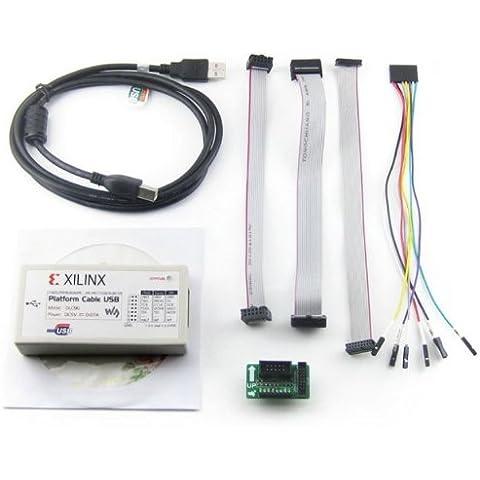 Plataforma Xilinx Cable de descarga USB Jtag programador para FPGA CPLD C-Mod XC2C64A