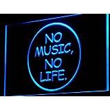 Cartel Luminoso ADV PRO i848-b No Music No Life Bar Beer Roll Rock Light Sign
