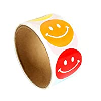 100pcs/roll Smiley Face Incentive Stickers Happy Face Stickers School Paper Labels Reward Stickers Teachers Parents Stickers for Women Girls
