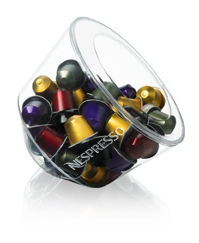 Original Nespresso Kapselhalter Bombonniere Glass Collection Enthält bis 50Kapseln von Kaffee