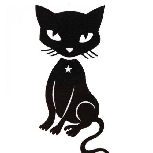 SPESTYLE wasserdicht ungiftig temporäre Tätowierung stickersTemporary temporäre Tattoos wasserdicht Männer und Frauen Mode sexy schwarzen Kätzchen (Kätzchen Temporäre Tattoo)