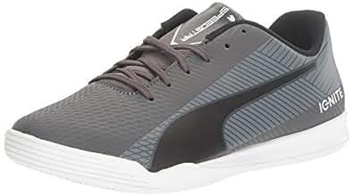 PUMA Men's Evospeed Star S Ignite Soccer Shoe, Asphalt Black-Quiet Shade White, 4 M US