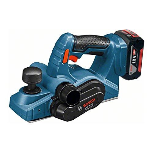 Bosch Professional 06015A0304 GHO 18 V-LI Akku-Hobel, 2 x 5,0 Ah Akku, Schnellladegerät, L-Boxx, 18 V