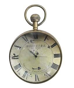 Montre Oeil du Temps grand modèle, modèle Library, finition bronze