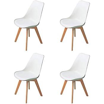 4er Set Esszimmerstühle mit Massivholz Buche Bein, Retro Design ...