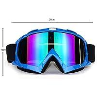 Gafas de Esquí Gafas de Moto, Profesional Desmontable Ajustable Diseño Fresco Gafas para Motocross Moto Bici Deporte