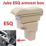 QFWCJ for Nissan Juke Armrest Box Central Store Content Box with Cup Holder Ashtray USB for Juke Armrests Box