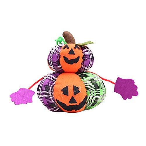 Bangle009Ausverkauf Halloween-Dekoration Tuch Kürbis Katze Geist Plüsch Spielzeug Party Ornament Geschenk, Pumpkin *