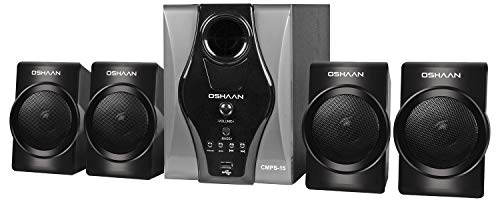 Oshaan S15 4.1 Channel Multimedia Home Theatre System, Bluetooth Connectivity, FM, USB/SD Card Reader, Digital Display, Remote Control