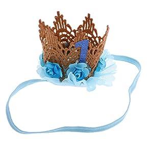 """MagiDeal Mädchen Baby Gitter """"1"""" Tiara Haarband Stirnbänder"""