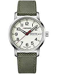 Wenger Men's 'Sport' Swiss Quartz Stainless Steel and Nylon Casual Watch, Color:Green (Model: 01.1541.110)