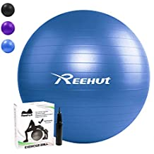 REEHUT Pelota de Ejercicio Anti-Burst para Yoga, Equilibrio, Fitness, Entrenamiento,