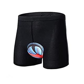 ANGTUO Cycling Underwear, Unisex Padded 3D Silica Gel Bike Underwear Cushion Anti-Shock Bicycle Underpants for Men and Women