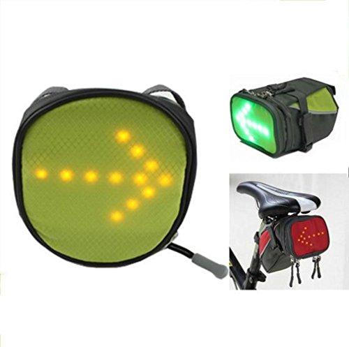 HappyBeauty Bike Satteltasche mit hoher Sichtbarkeit LED Sicherheit Blinker Licht Funk Ferngesteuert für Bike