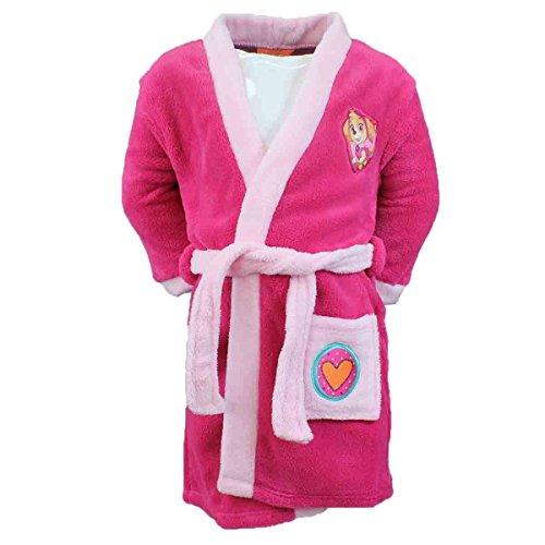 4707 Kuschliger Kinder Bademantel f. Mädchen Kinderbademantel - PAW Patrol Skye (pink, 92)