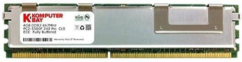 Komputerbay 4GB (1x4GB) DDR2 667 MHz PC2-5300 ECC FB Dual Rank 2RX4 Fully Buffered MÉMOIRE RAM