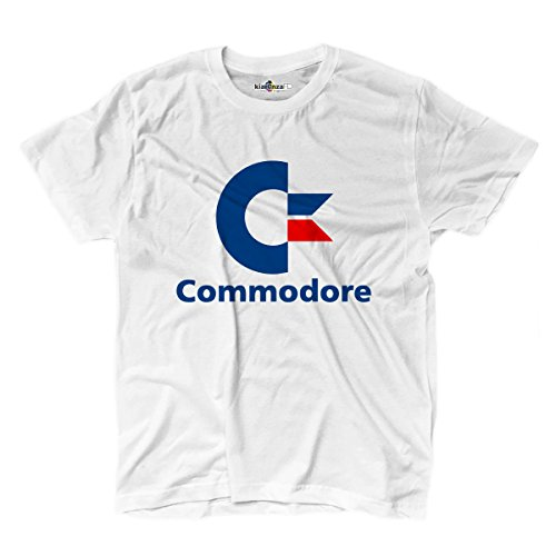 KiarenzaFD T Shirt Commodore 64Computer Vintage 80Jahre Streetwear, TSBS_00029-XXL-white, Weiß, XXL